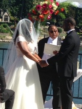 Don Gloud officiating Moulaye and Brianna's wedding July 2nd, 2017